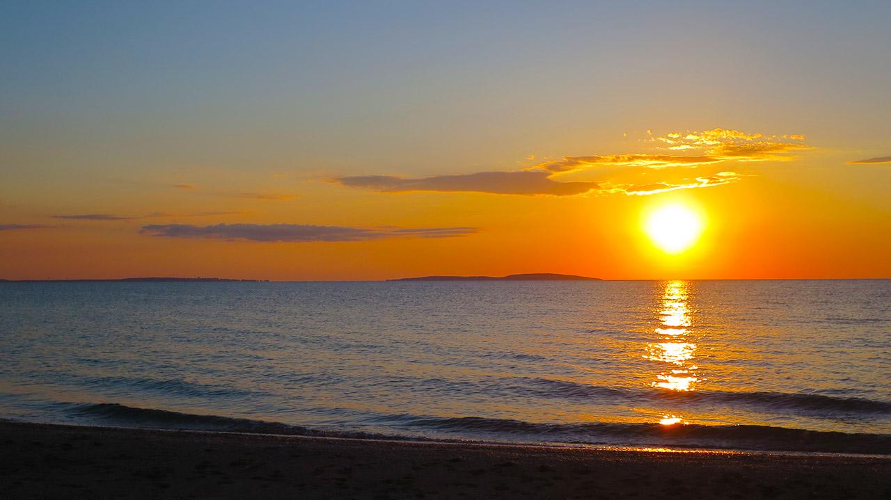 Закат на Казантипском заливе.