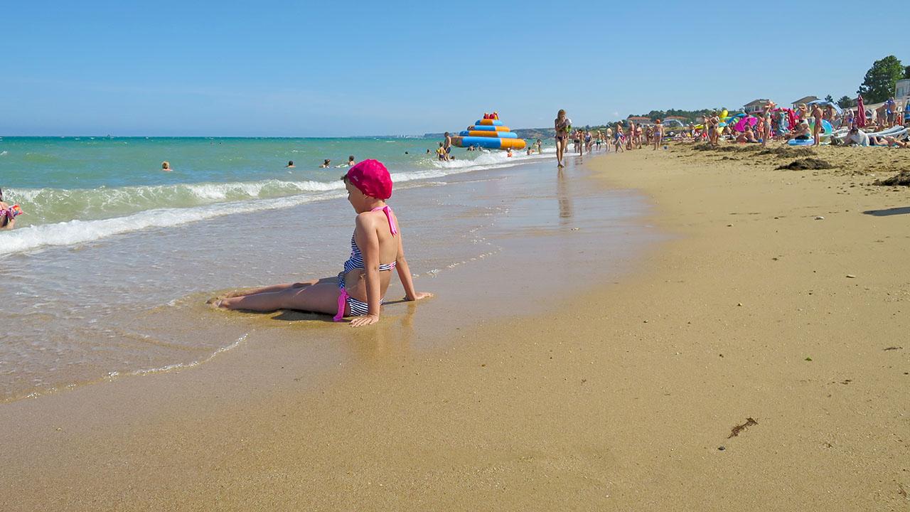В Учкуевке лучший севастопольский песчаный пляж