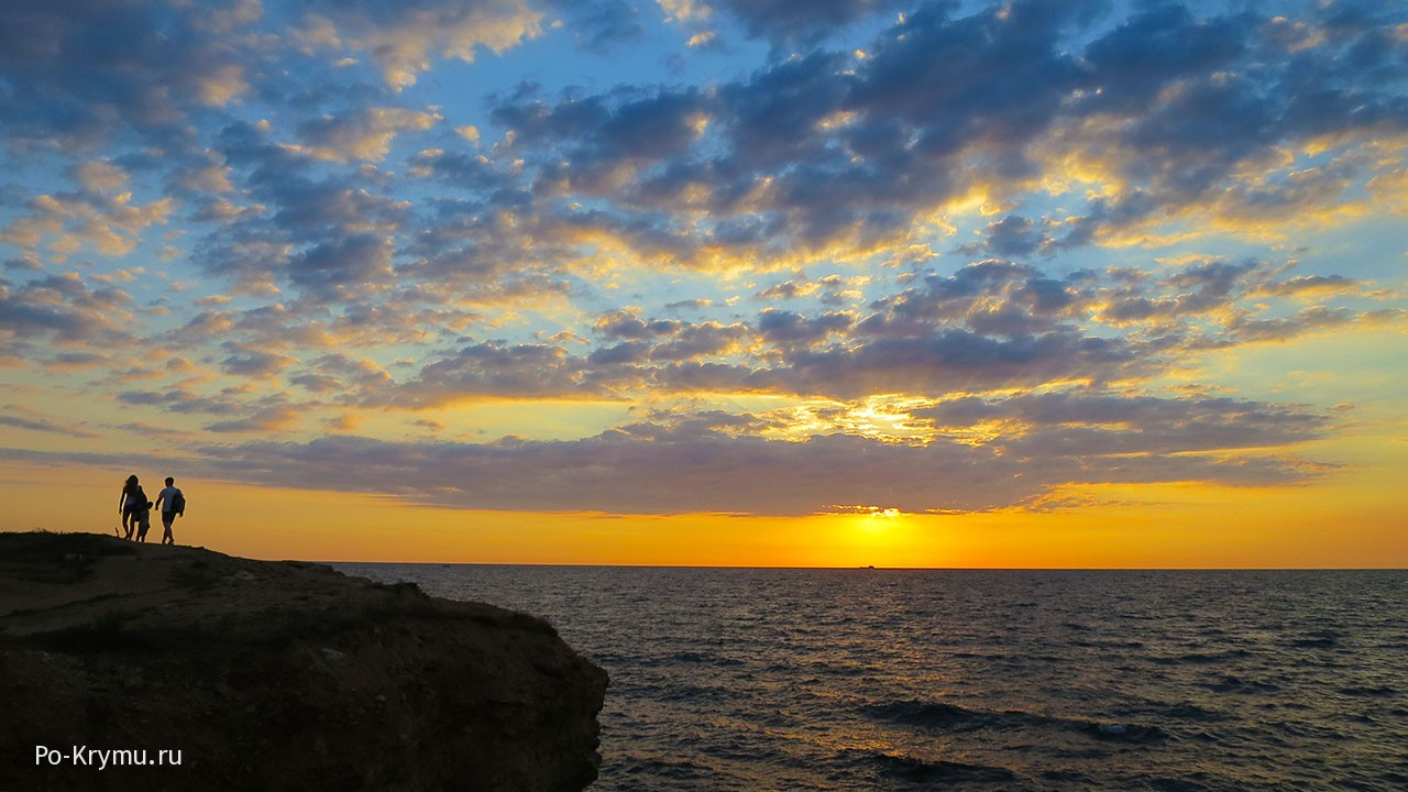 Голубой закат на Серном море в Крыму