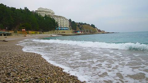Пляжи Кастрополя (Берегового) на ЮБК