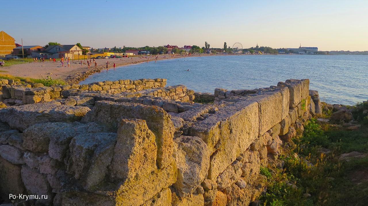 Достопримечательности пгт Черноморское - руины Калос-Лимена