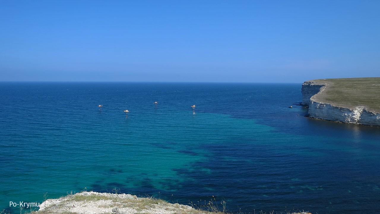 Аквамариновый залив полуострова Тарханкут