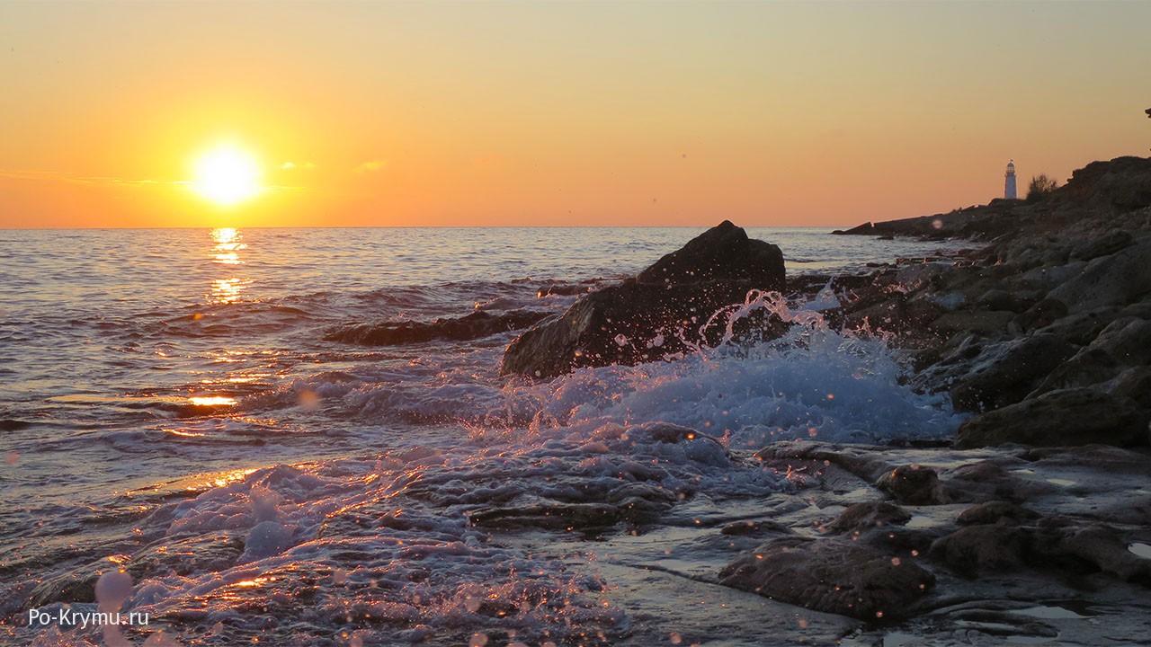 Фото заката на мысе Херсонес