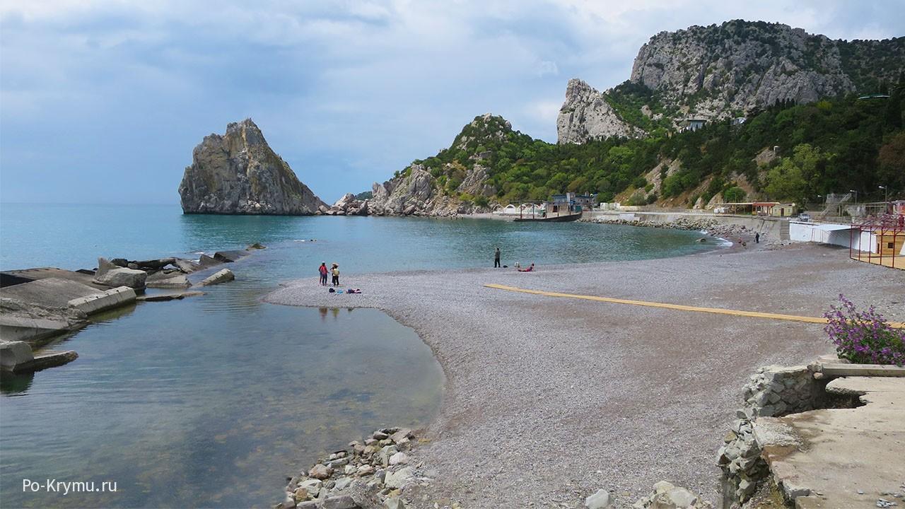 Детскйи пляж в Симеизе.