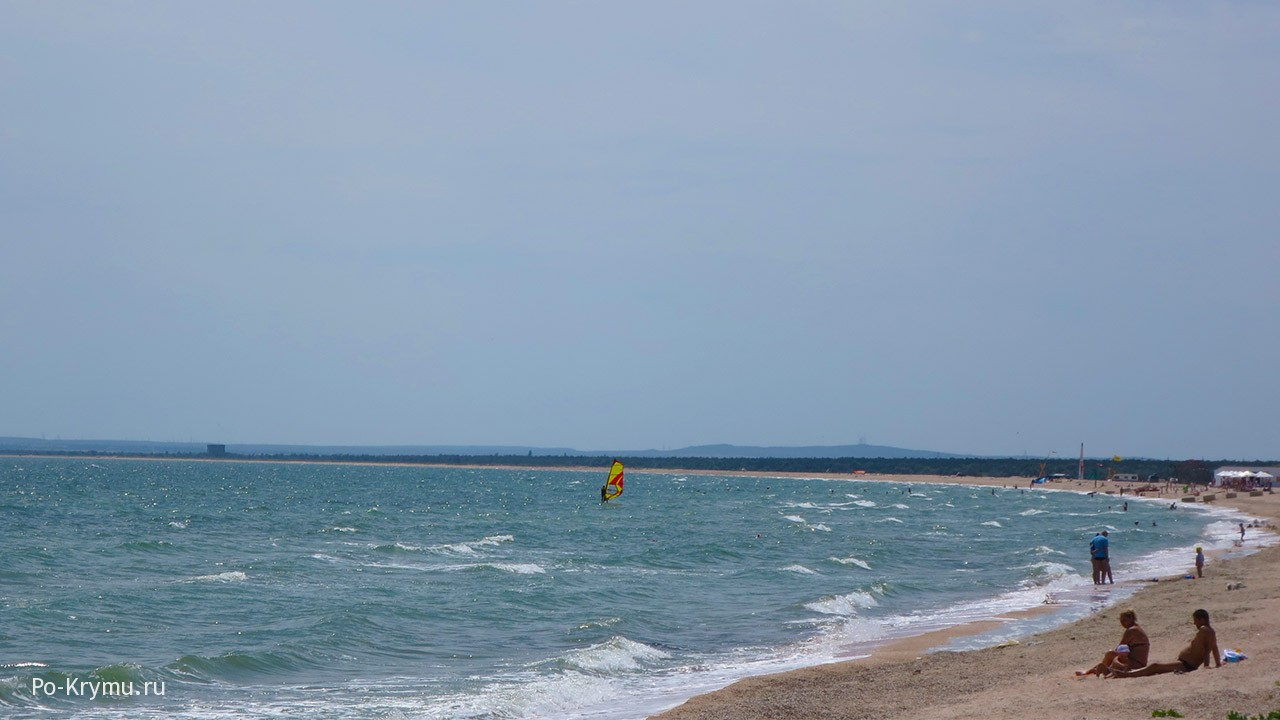 Лучшие пляжи Азовского моря в Крыму.