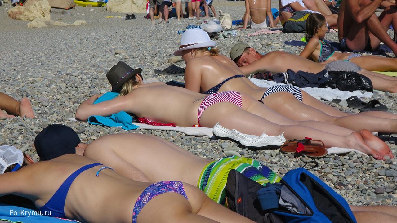 Фото Яшмового пляжа а Крыму.