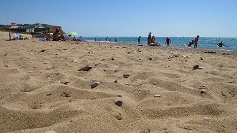 Пляж «Вязовая роща» под Севастополем
