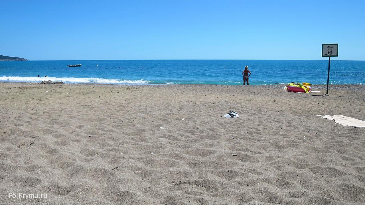 Пляж Батилиман, Крым.
