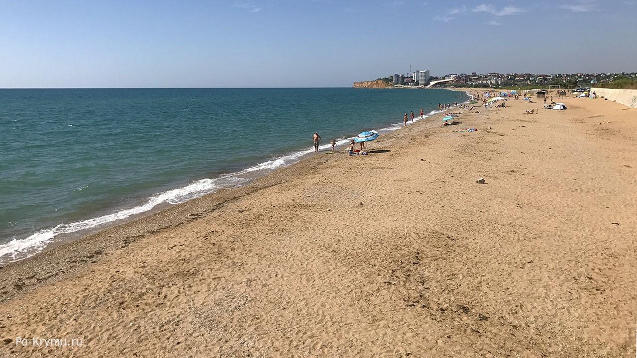 Вязовая роща, Крым, широкий и длинный пляж