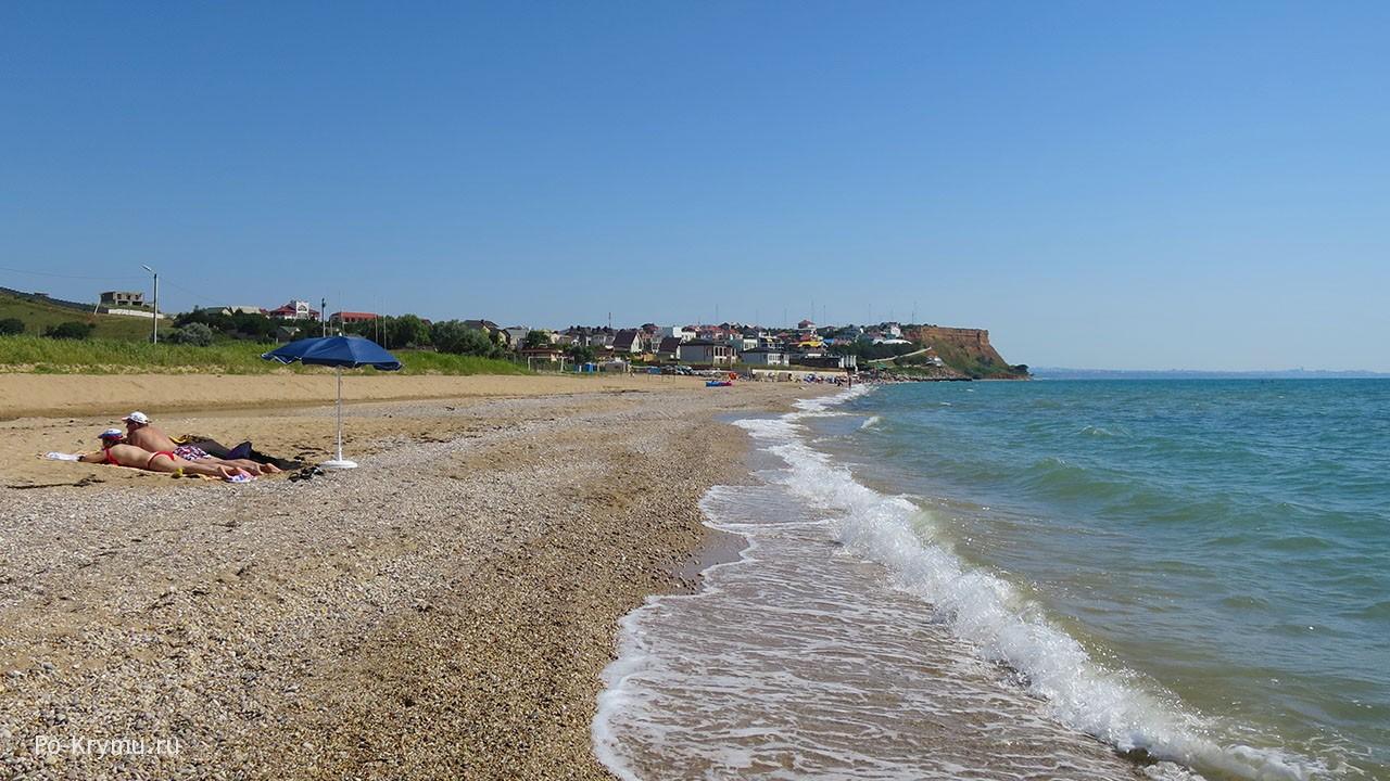 Пляж Вязовая роща в Орловке.