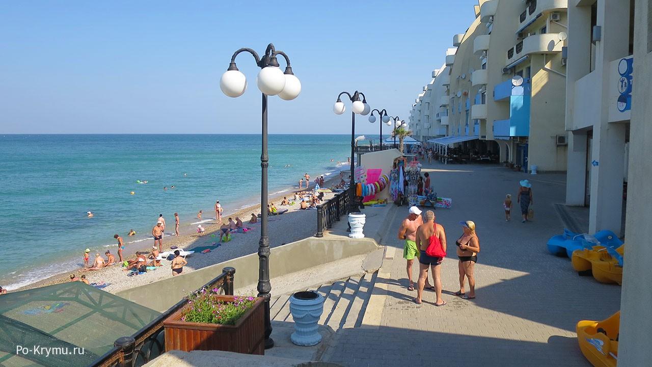 Пляжи Качи в Крыму.