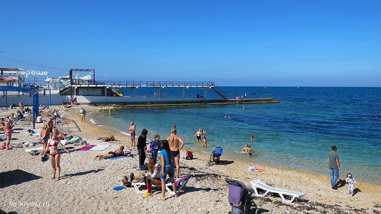 Севастопольский пляж Победа.
