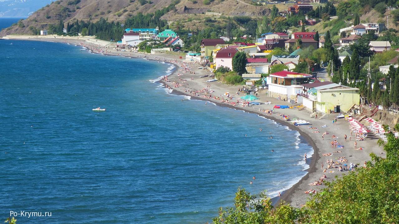 Пляжи Солнечногорского в Крыму.