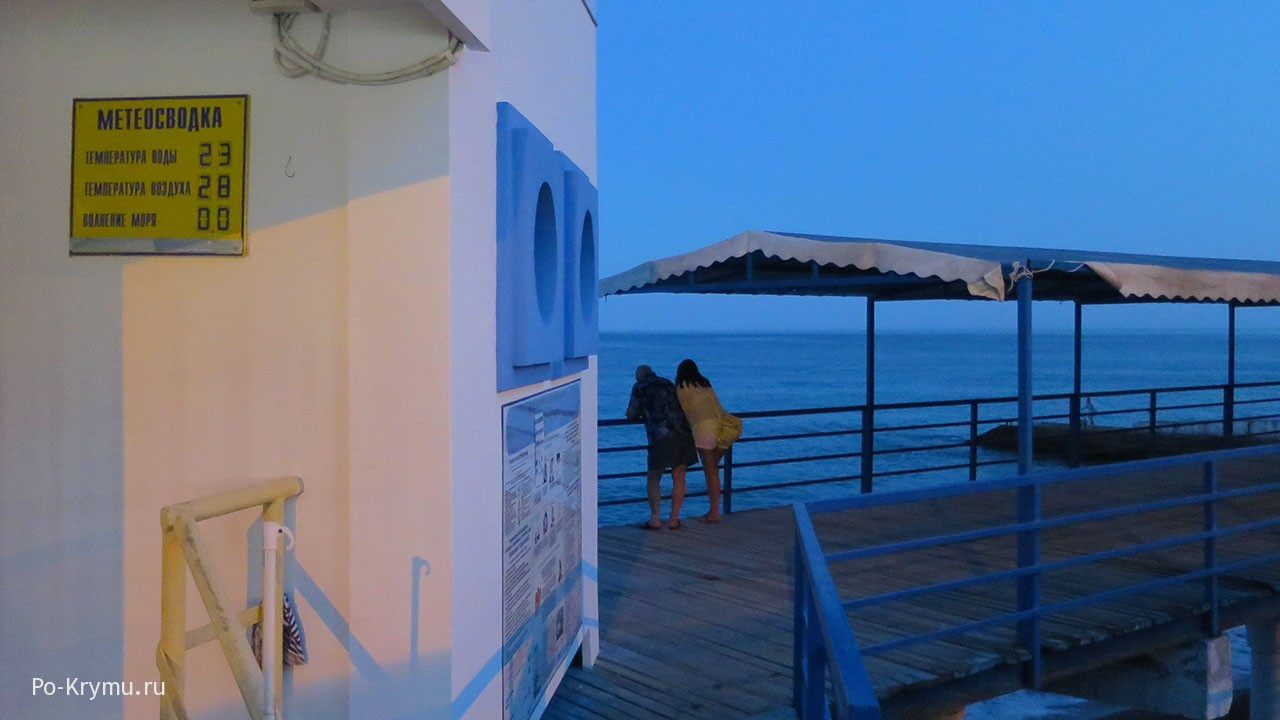 Вечер на берегу моря.