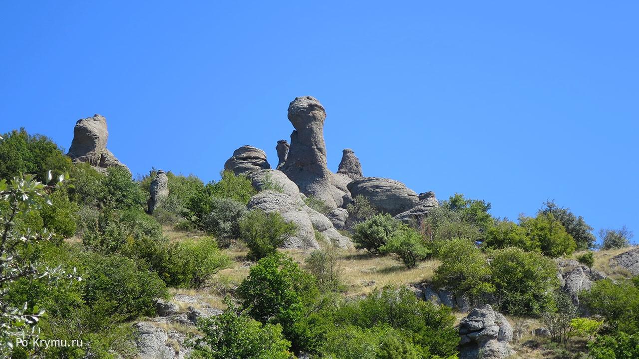 Демерджи-яйла, скульптуры, созданные природой.