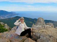 Покорительница горы Ай-Петри в Крыму
