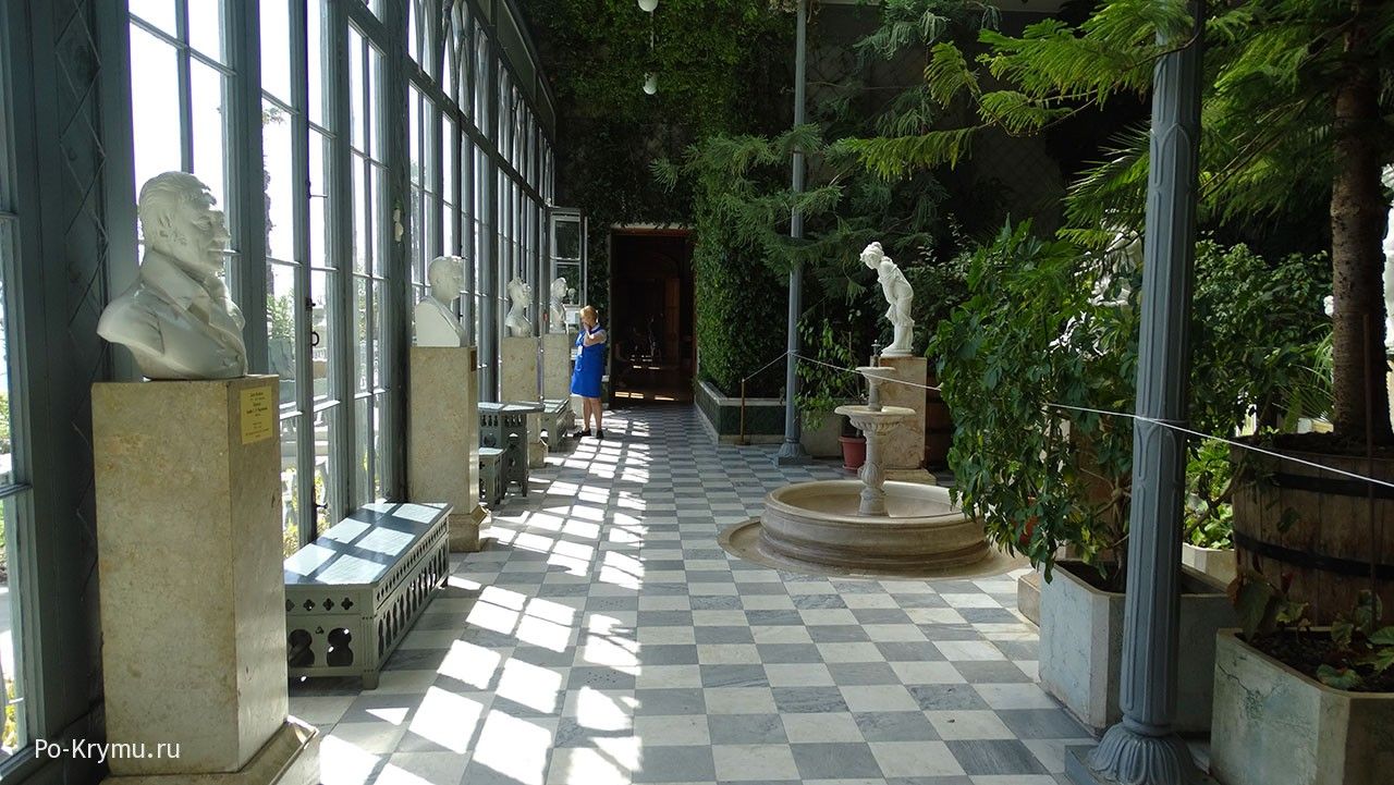 Зимний сад Воронцовского дворца.