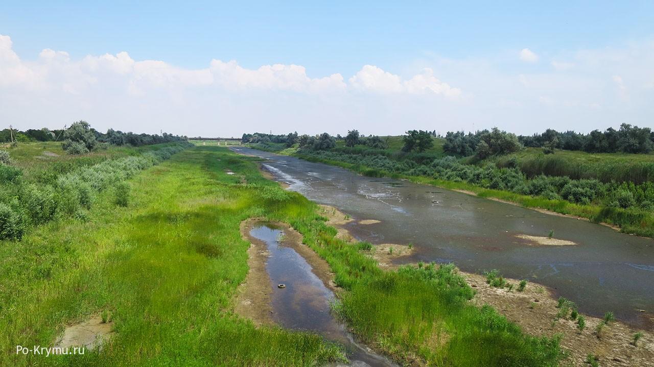 Дно Северо-Крымского канала.