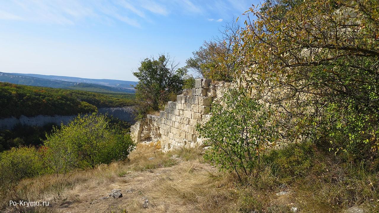 Оборонительные стены Сюйреньской крепости.