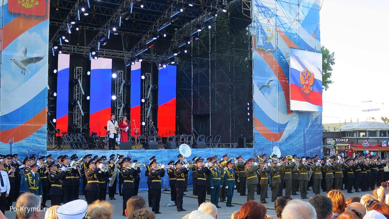 Всесоюзный фестиваль военных оркестров.