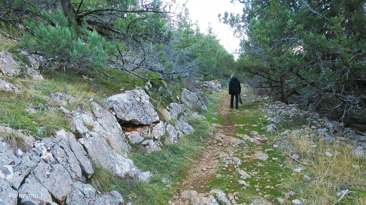 Зимний Крым - отличное время для горных прогулок.