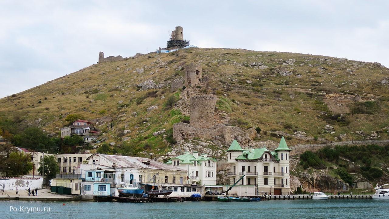 Чембало - средневековая крепость над выходом из Балаклавской бухты.