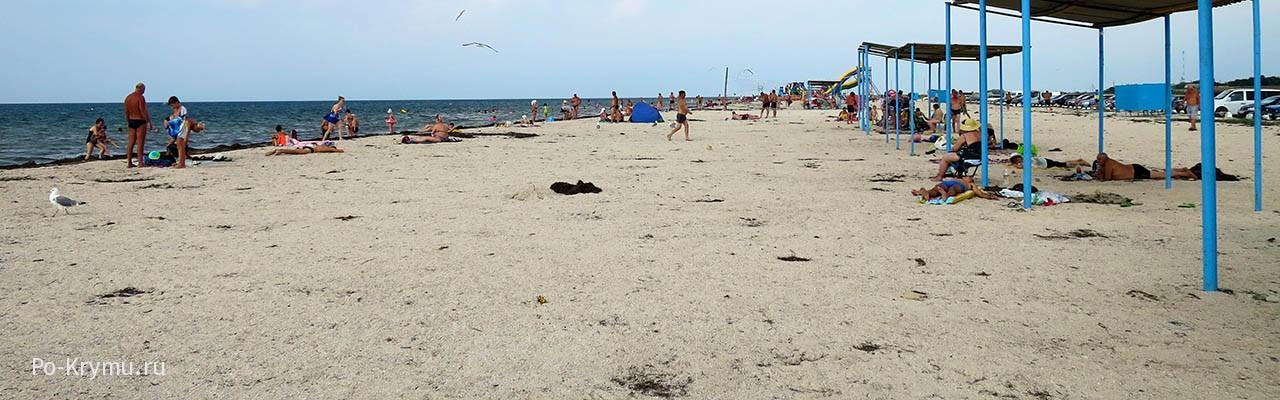 Пляжный отдых у поселка Портовое в Западном Крыму