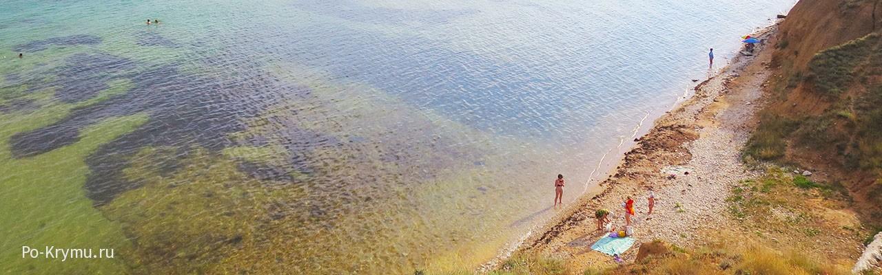 Мелкое море Окуневки в Западном Крыму