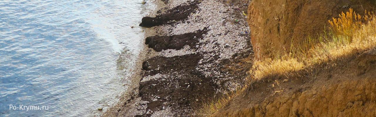 Обрывистый берег в поселке Марьино