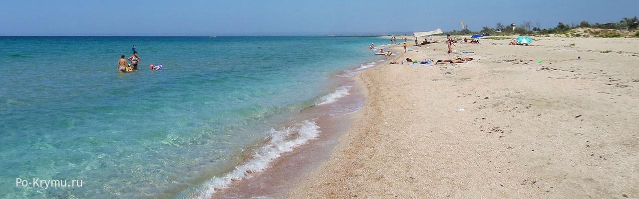 Поселок Мирный - вот где в Крыму мелкие пляжи