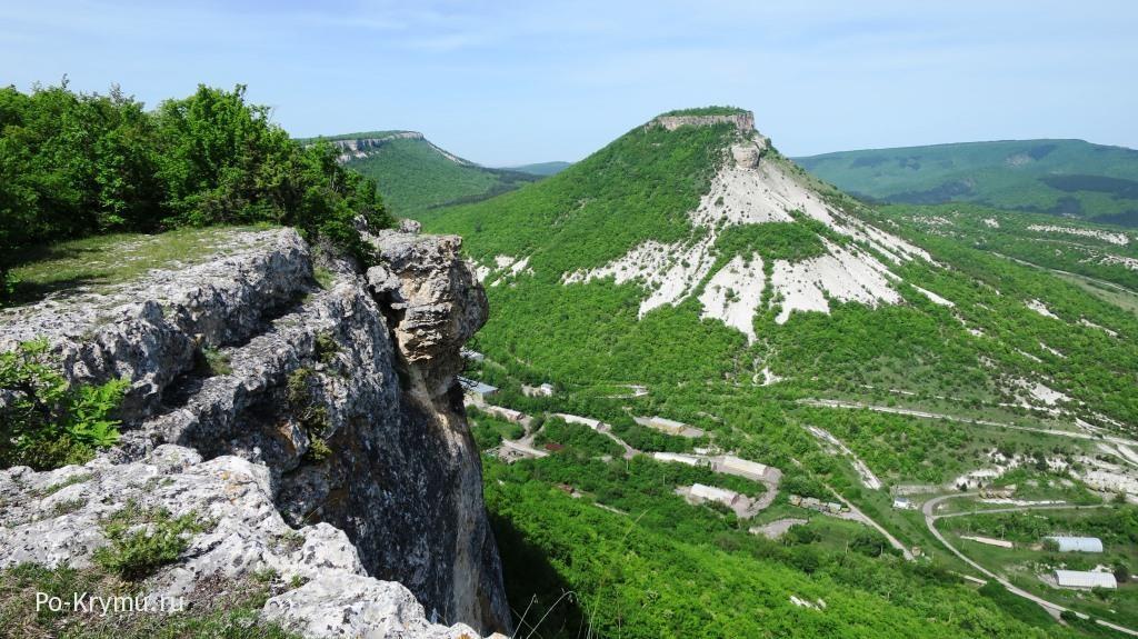 Качинский каньон Крым, вид с Кыз-Кермена.