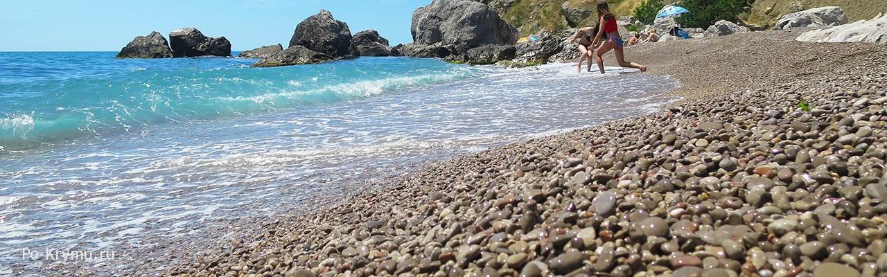 Пляж Батилиман - фотографии моря, скал, волн