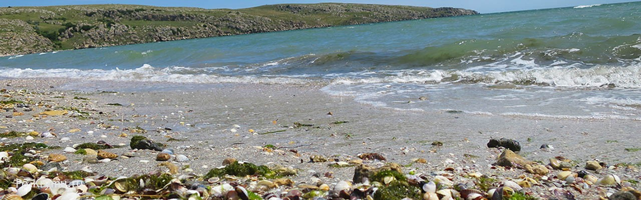 Нудистские пляжи Татарской бухты у Казантипа