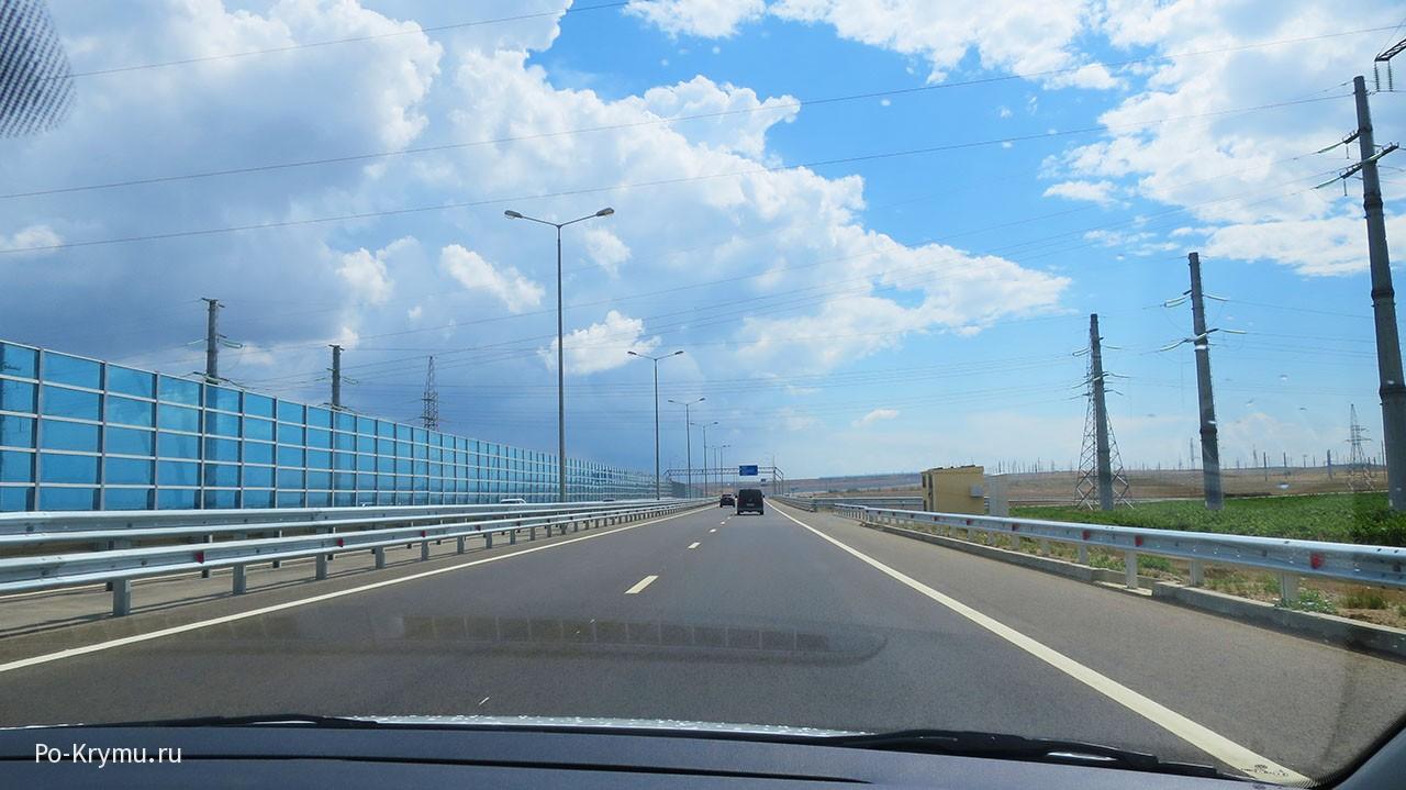 Какой Крымский мост со стороны материка.