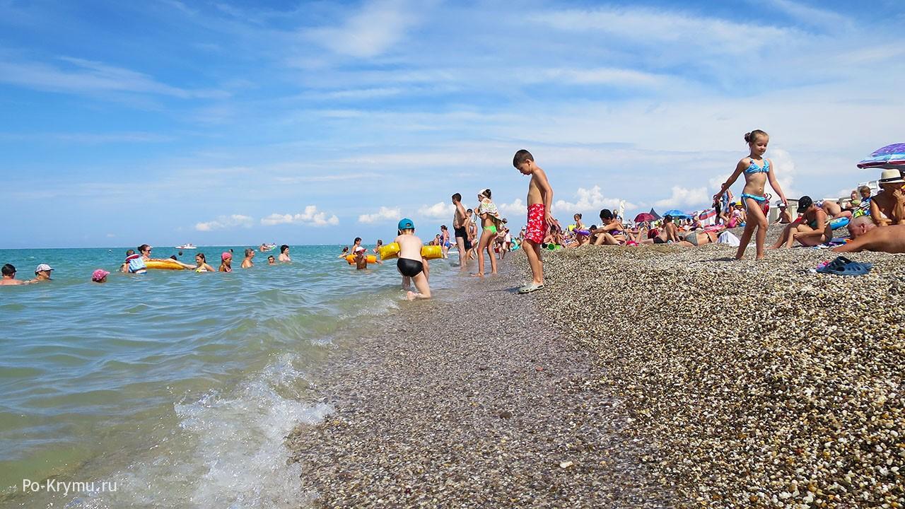 Берег Каламитского залива в июле.
