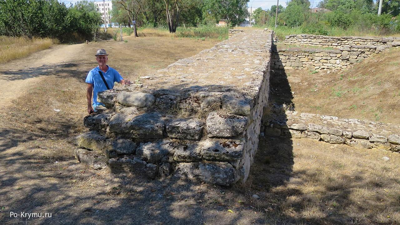 Наружные стены, городище Тиритака.