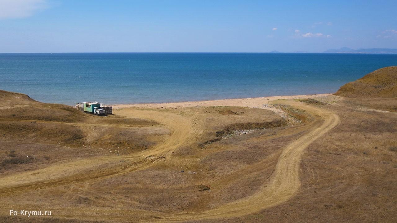 Пляж поселка Южное, Крым, Феодосия.