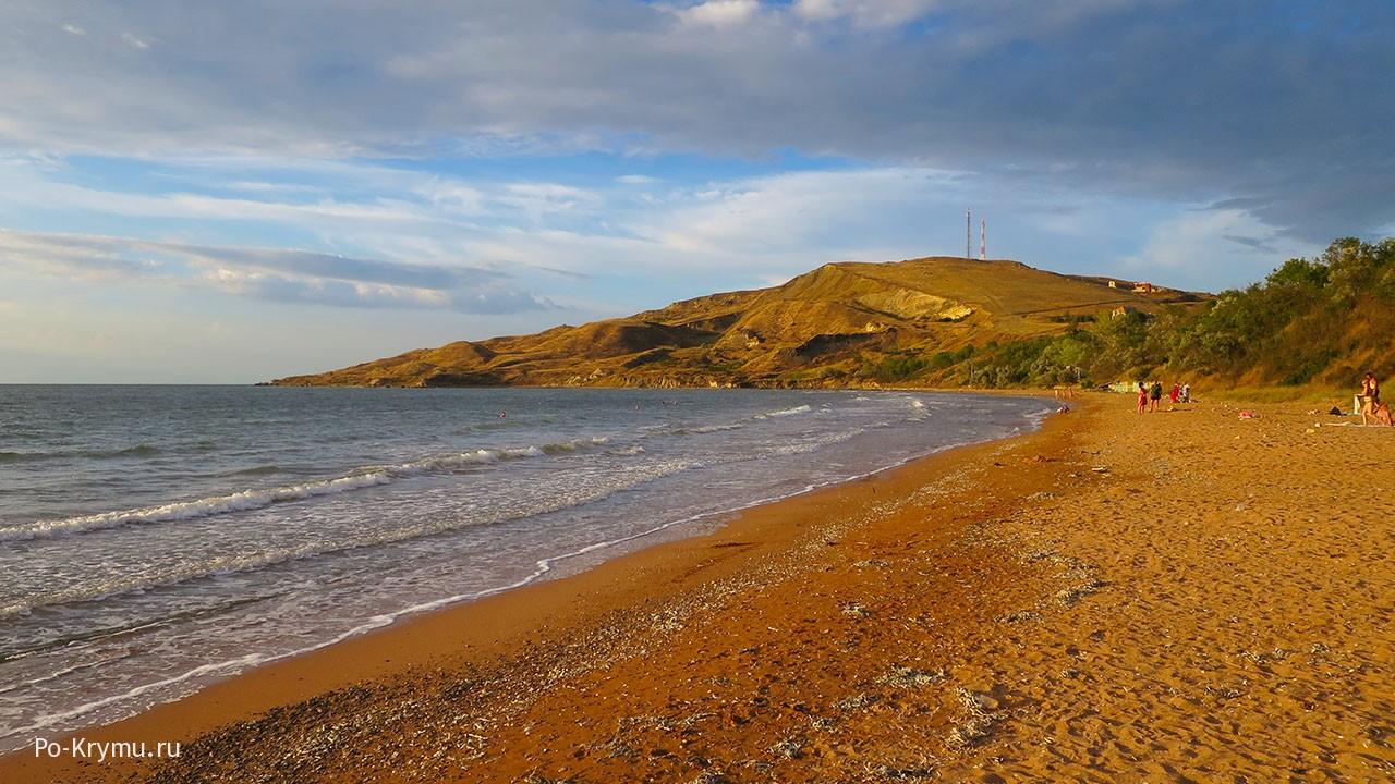 Пляж Юркино в бухте Булганак