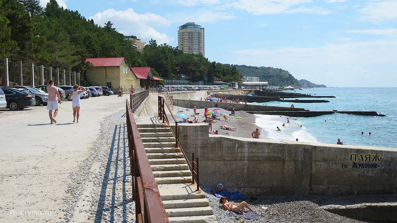 Пляж Парковое, Крым, Ялта.