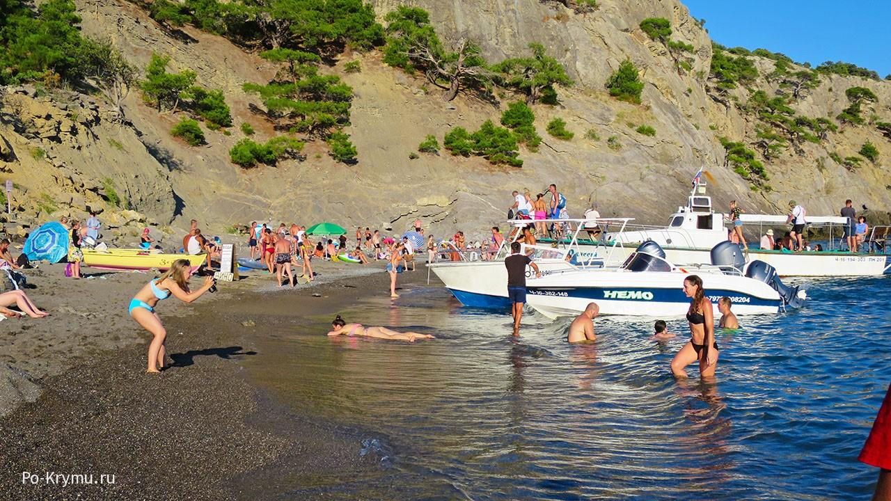 Черный песок, Голубая бухта, Крым.