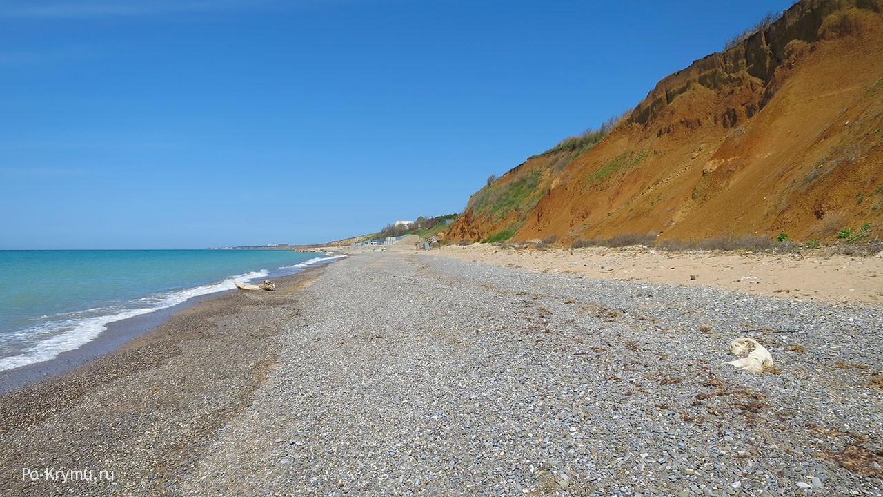 Широкие песчано-галечные крымские пляжи