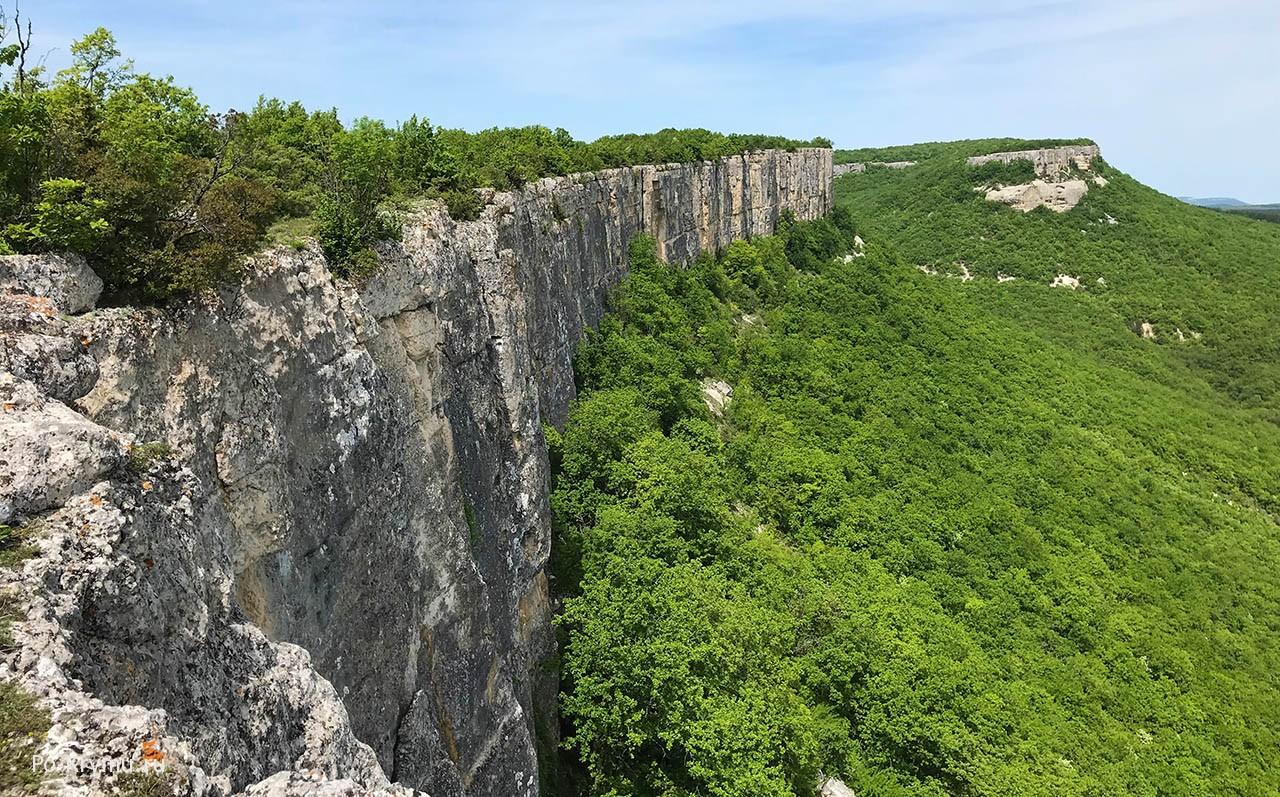 Пещерный город Кыз-Кермен, Бахчисарай, Крым.
