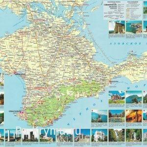 Достопримечательности Крыма на карте