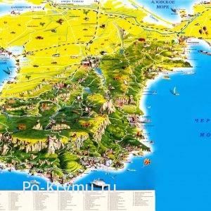 ТОП 100 лучших туристических мест Крыма на карте