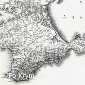 Старая карта Крыма - 1800 год