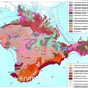 Почвы и грунты Крыма на карте