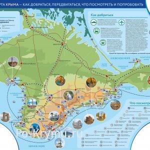 Туристическая карта полуострова Крым