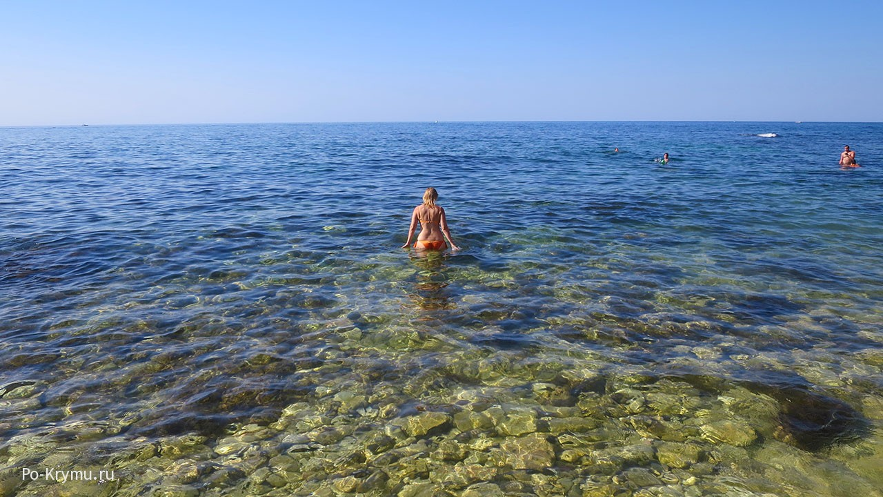 Онлайн-карта температуры воды в Крыму.