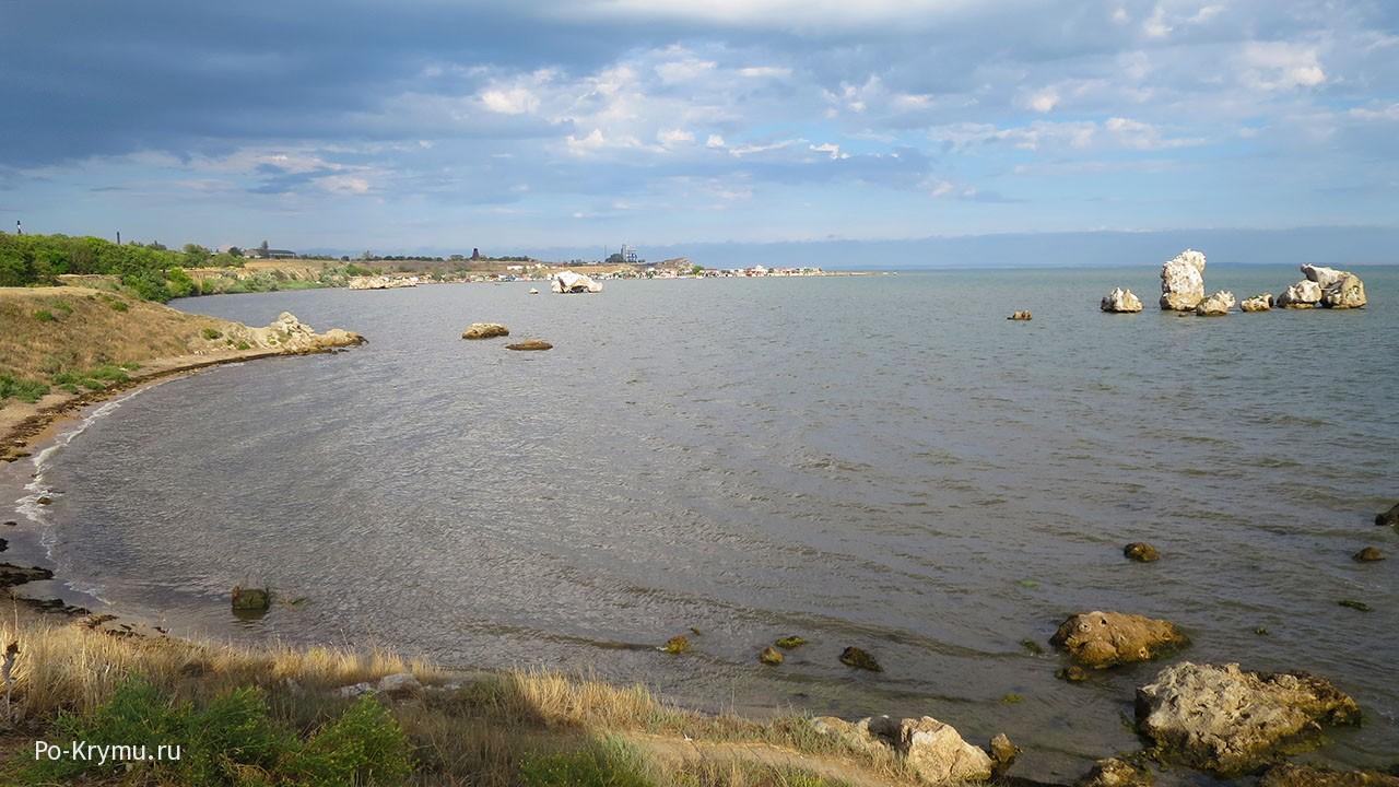 Дикий пляж Семискалка, Керчь, Керченский пролив.