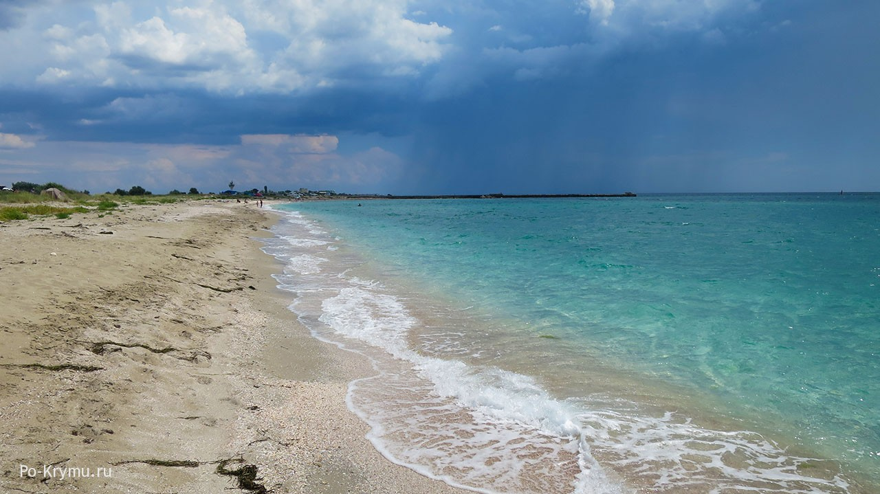 Фото пляжа на косе Беляус, Донузлав